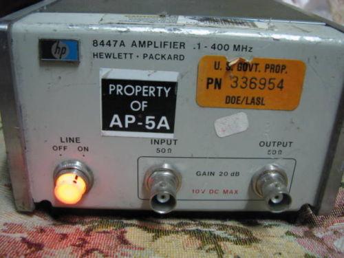 HP/AGILENT 8447A/1 AMPLIFIER, .1-400 MHZ, 2 CH.